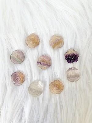Fluorite Rose Drilled Pendants