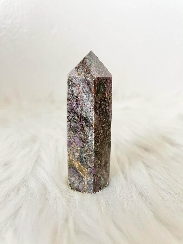 Purple Veins Ruby Kyanite Tower