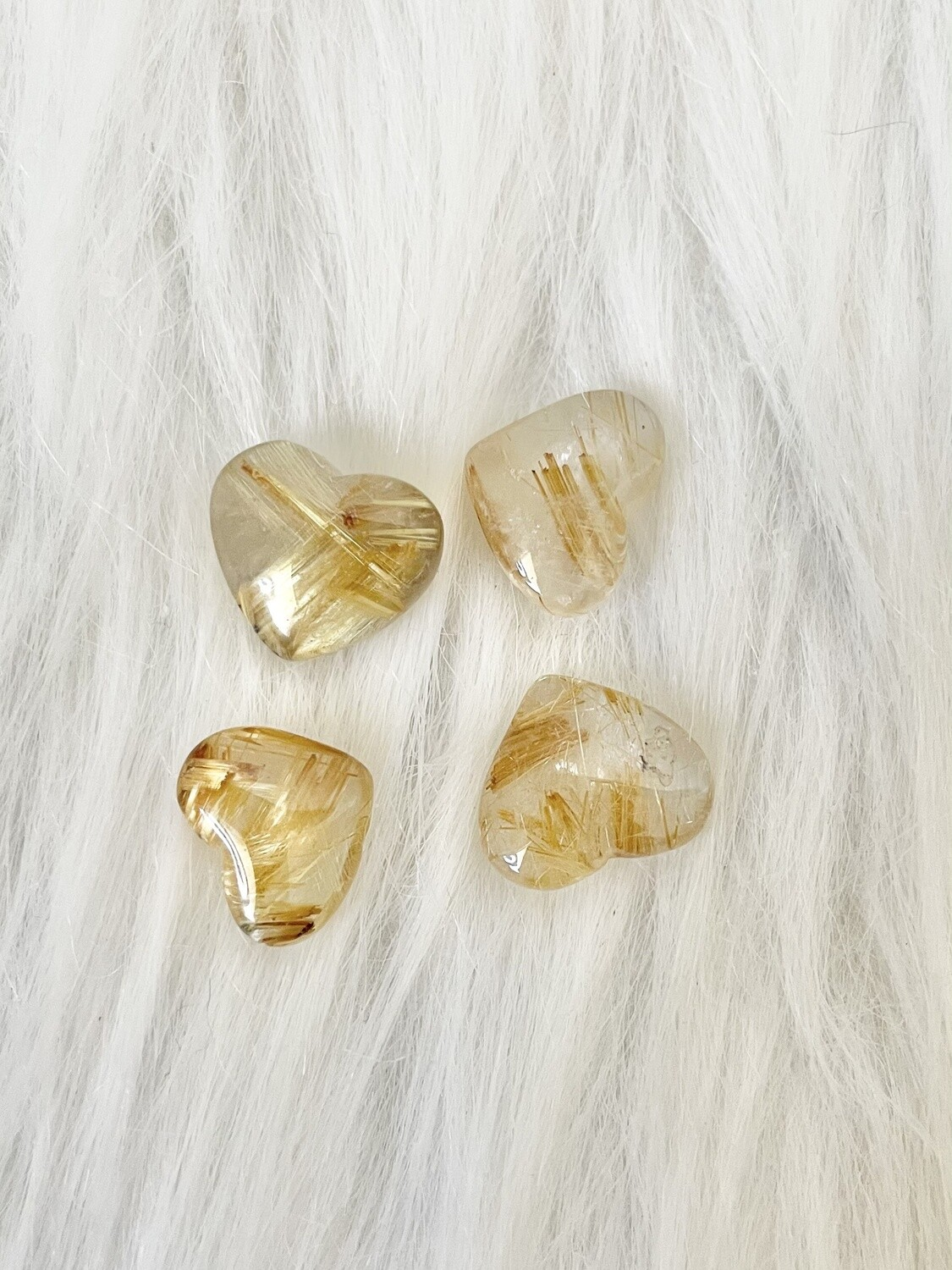 True Connections Gold Rutile Hearts