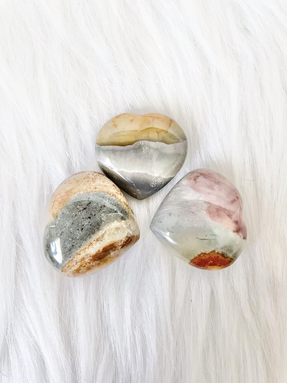 3 Shades of Gray Polychrome Hearts