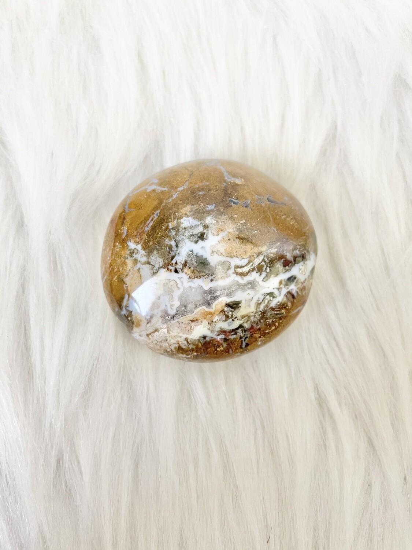 Sandy Snow Globe Ocean Jasper Palmstone