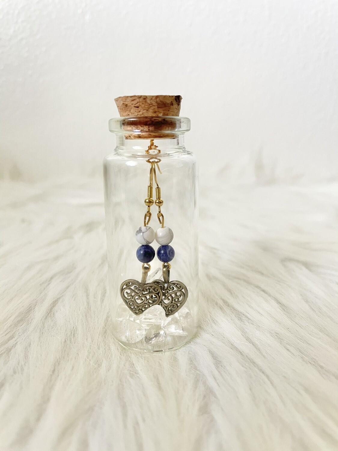 Limited Edition: Cool Sweetheart Sodalite & Howlite Earrings