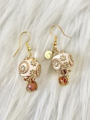 Opera Carnelian & Fire Agate Earrings