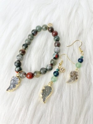The Dragon Princess Bracelet & Earring Set