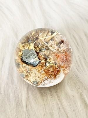 A Fantasy Lodolite Quartz Sphere