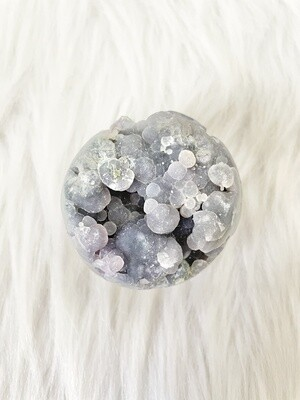 Ogre Grape Chalcedony Agate Half-Sphere