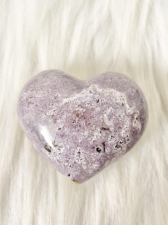 Purple Dunes Ocean Jasper Heart