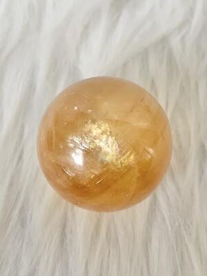 Comet Honey Calcite Sphere