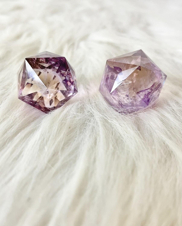 Sparkling Jewel Ametrine Isocahedron