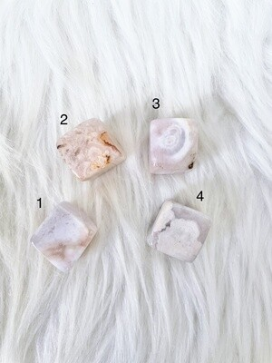Halo Flower Agate Cubes