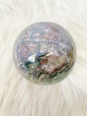 Magical Forest Ocean Jasper Sphere