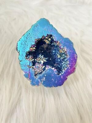 Aquaman Aura Titanium Quartz Geode