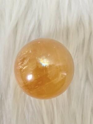 Ray of Light Honey Calcite Sphere
