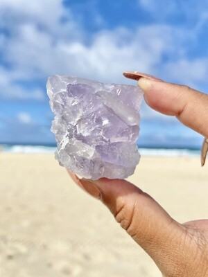 Chunk of Ocean Violet Fluorite with Rainbow