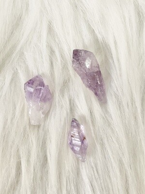 Famous 3 Raw Amethyst Points
