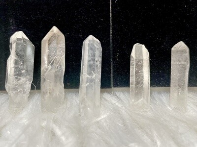 Icy Clear Quartz Raw Points