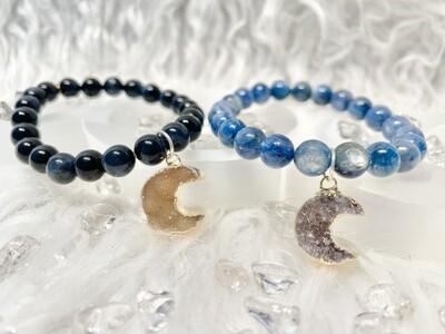 Wolf Moon Blue Apatite & Blue Tigers Eye Bracelets