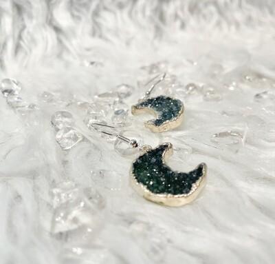 Fruit Moon Druzy Agate Earrings