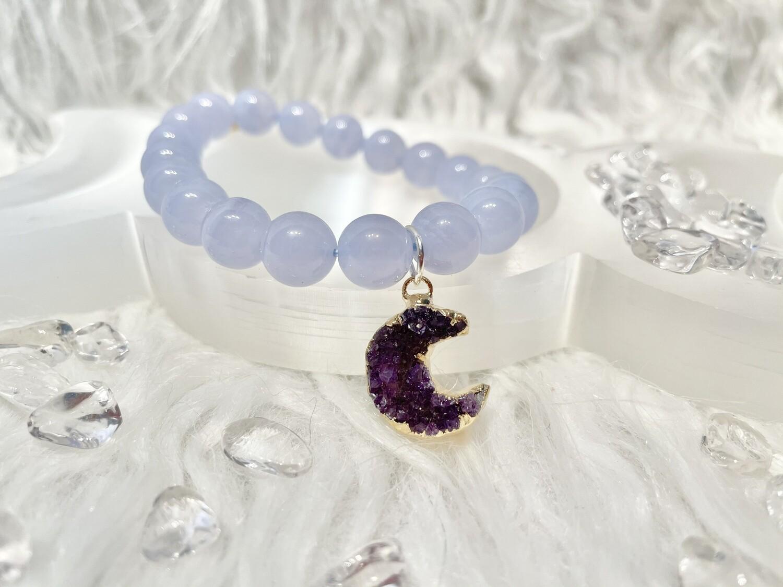Blue Corn Moon Blue Lace Agate Bracelet