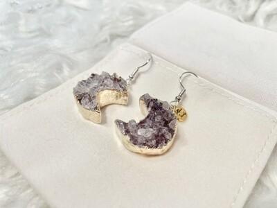 Harvest Moon Druzy Agate Earrings
