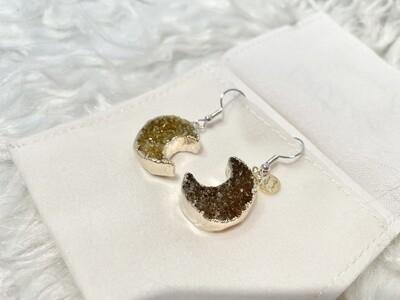 Sugar Moon Druzy Agate Earrings