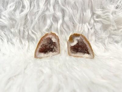 Walnut Mexican Agate Druzy Geode