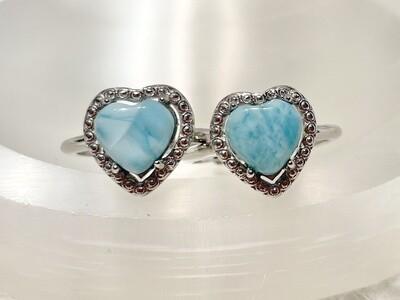 Frolick Larimar Heart Rings