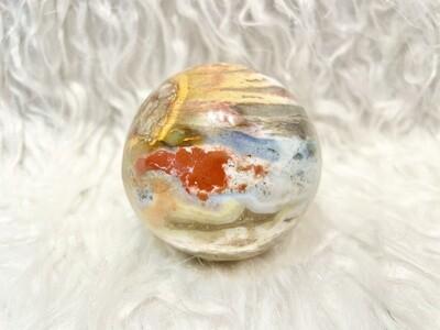 Down The Rabbit Hole Ocean Jasper Sphere
