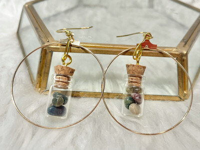 Ocean Jasper Hoop Earrings