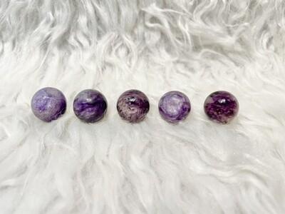 Mini Crystal Charoite Balls