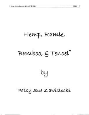 Hemp Ramie Tencel & Bamboo 2021