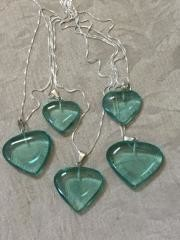 Obsidian Green Heart necklaces.
