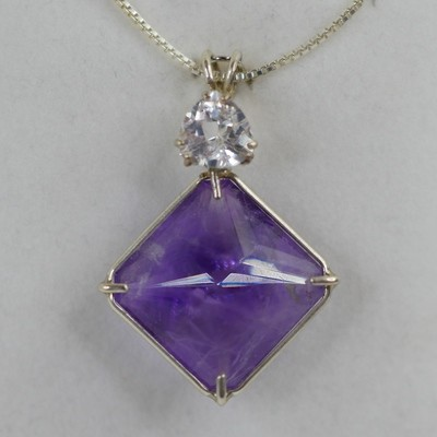 Amethyst Magician with White Topaz