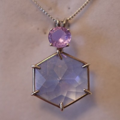 Tanzine Aura Flower of Life with Ruby Lavender