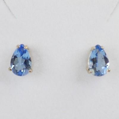 Tibetan Blue Obsidian Earrings
