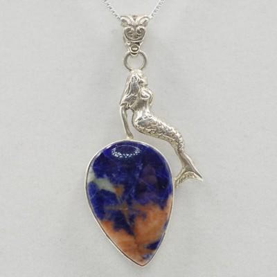 Agate Mermaid Pendant