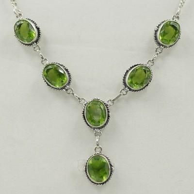 Peridot Necklace & Earrings Set