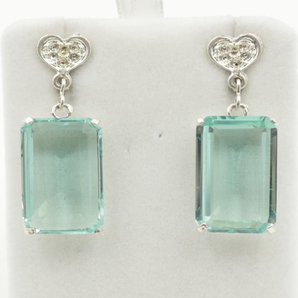 Green Obsidian Earrings