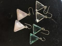 John Of God Silver Trim Dangle Earrings