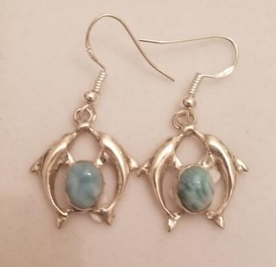 Twin Dolphin Earrings