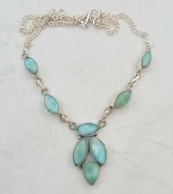 Larimar Drop Necklace