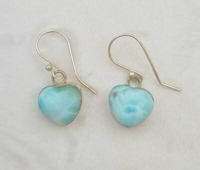 Larimar Heart earrings