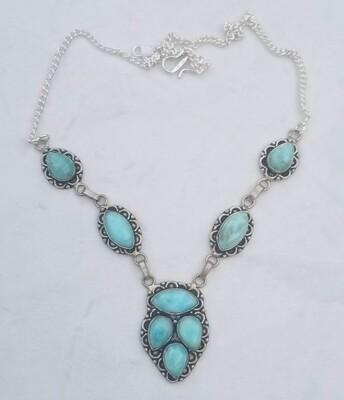 Larimar Lace Necklace