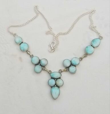 Larimar Round and Drop Necklace