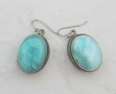 Larimar Oval Earrings