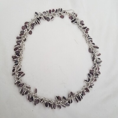 Amethyst Silver Chain necklace