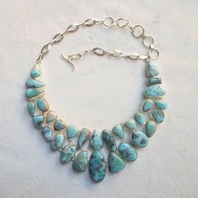 Larimar Queen Collar w Copper inclusions