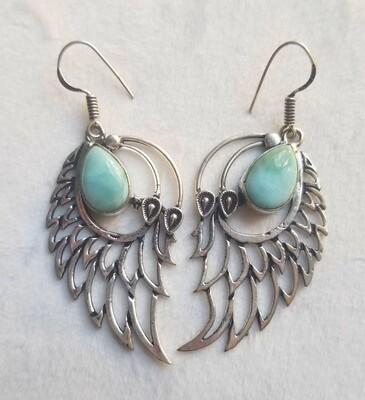 Larimar drop Angel Wings