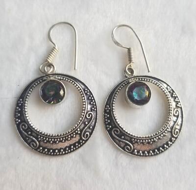 Mystic Topaz Moon earrings