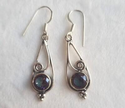 Mystic Topaz Drop Earrings